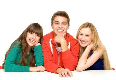Drie jonge mensen