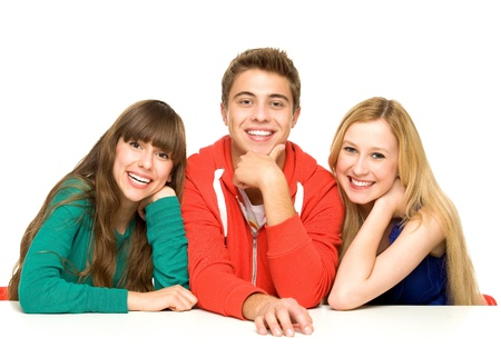 three friends: Three young people