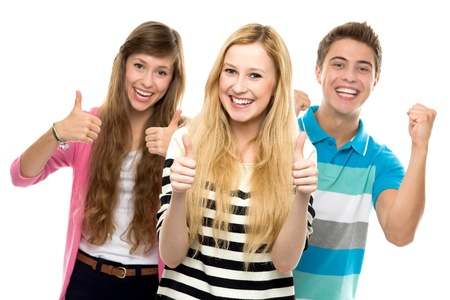 group of teens: Friends with thumbs up
