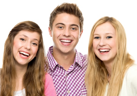 beautiful smile: Three young friends