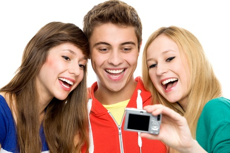 Friends taking picture of themselves  photo
