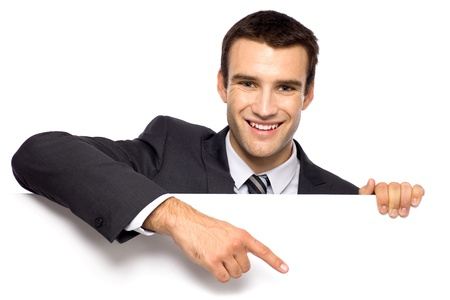Businessman pointing finger Stock Photo - 10944343