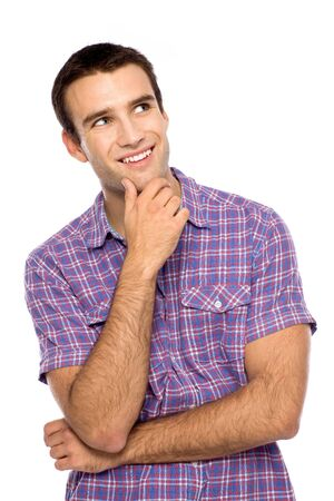 Young man looking up Stock Photo - 10944358