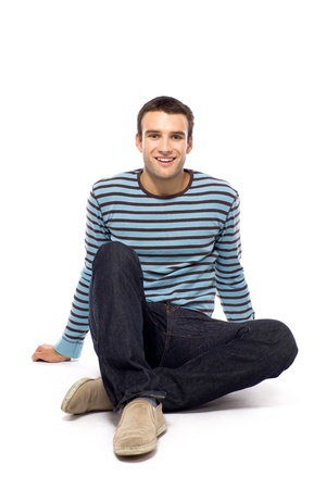 Casual guy sitting Stock Photo - 10944349