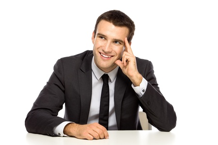 Businessman looking up Stock Photo - 10982289