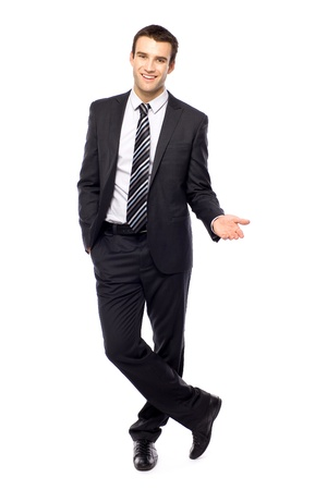 Young businessman gesturing photo