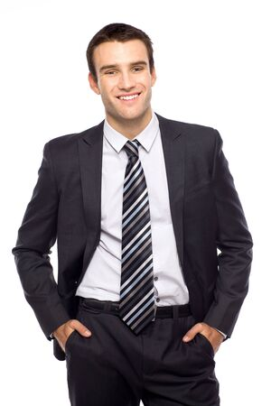 Businessman with hands in pockets Stock Photo - 11065200