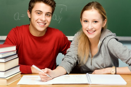Students doing homework Stock Photo - 11113009