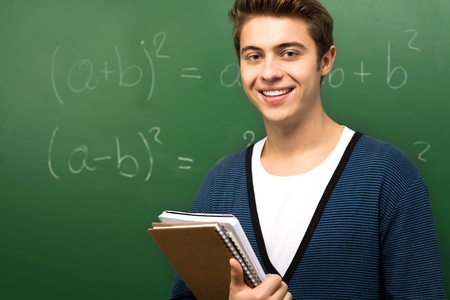Student by Chalkboard photo