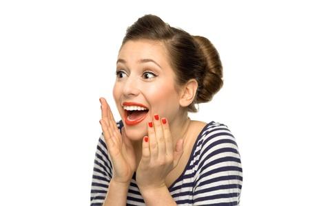 Shocked pin-up girl