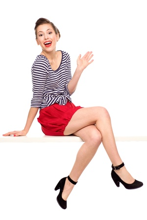 Pin-up girl sitting Stock Photo - 11341745