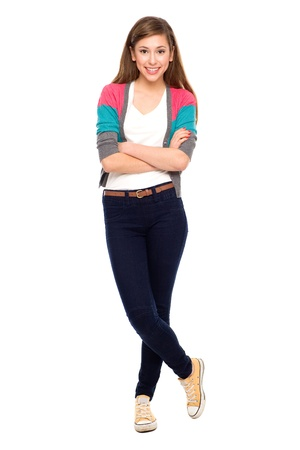 Teenage girl with arms crossed Stock Photo - 11454973
