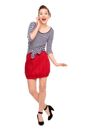 pinup girl: Pin-Up Girl Stock Photo