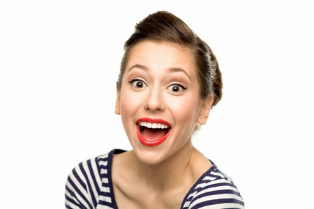 Excited young woman photo