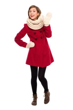 ropa de invierno: Chica en ropa de invierno Foto de archivo