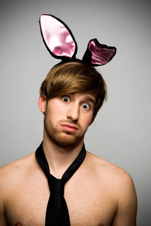 Man wearing bunny ears Stock Photo - 11633948