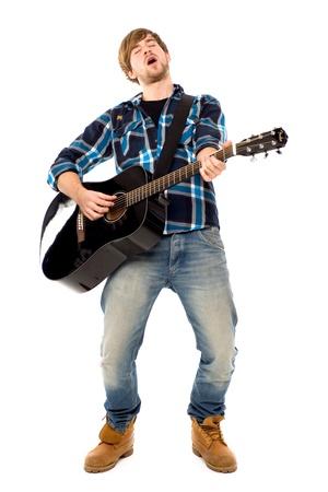guitarists: Guitar player Stock Photo