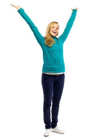 Woman with arms raised Stock Photo - 11910246