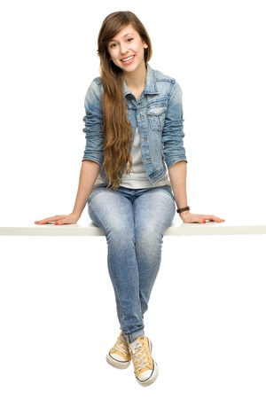 Young woman sitting Stock Photo - 12377182