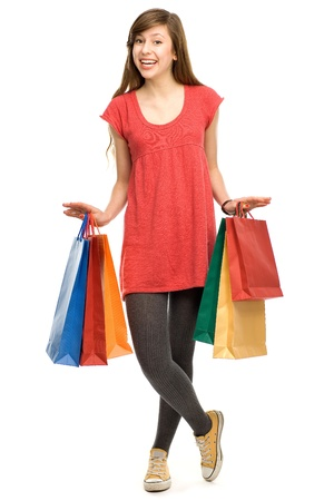 Teenage girl with shopping bags Stock Photo - 12377204