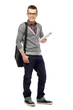 shot glass: Male student