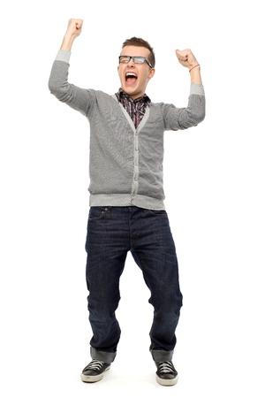 clenching: Guy clenching fists Stock Photo