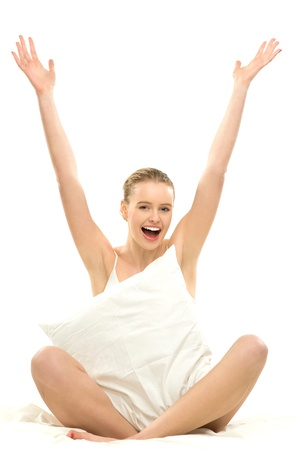 Woman with arms raised Stock Photo - 12749837