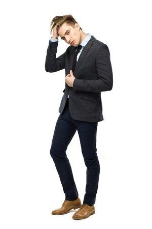 white body suit: Stylish man wearing suit Stock Photo