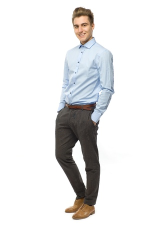 Young man standing photo