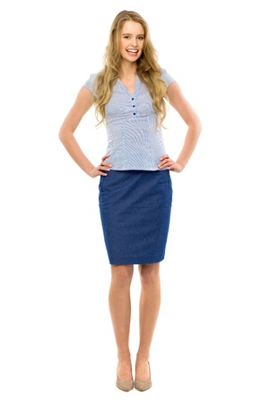 business woman standing: Attractive woman standing Stock Photo