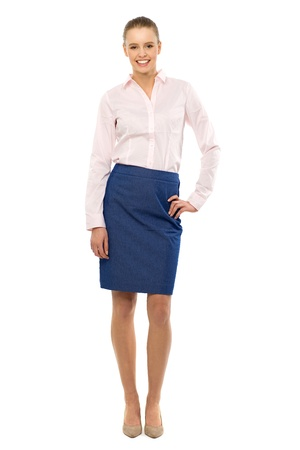woman standing: Young businesswoman standing Stock Photo
