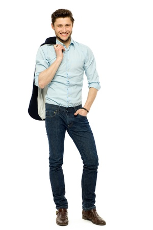 happy business man: Casual man standing Stock Photo