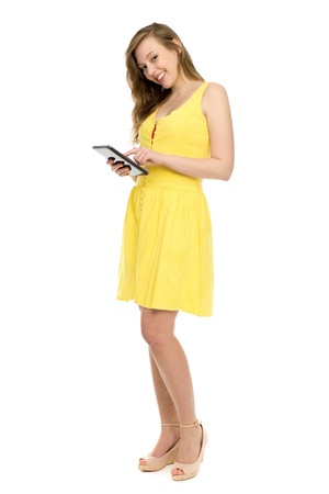 Woman with digital tablet  photo
