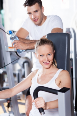 Couple at the gym photo