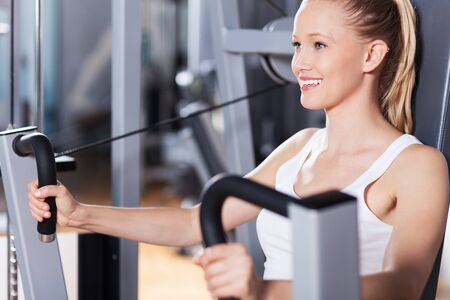 Woman working out photo