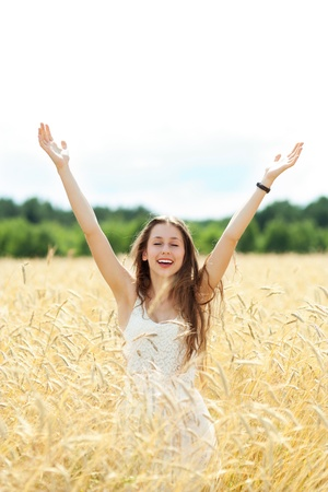 Woman with arms raised Stock Photo - 14524696