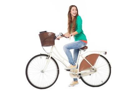 Mujer en bicicleta Foto de archivo - 15810699