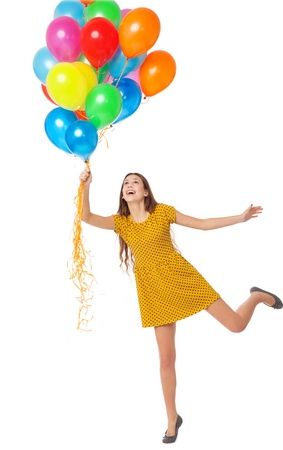 Woman with balloons photo