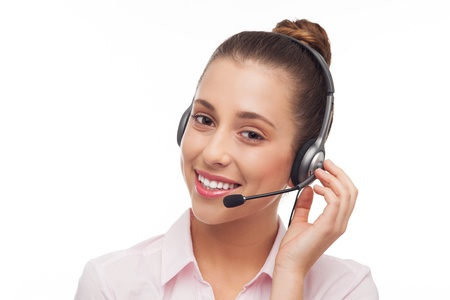 Woman wearing headset Stock Photo - 15940158