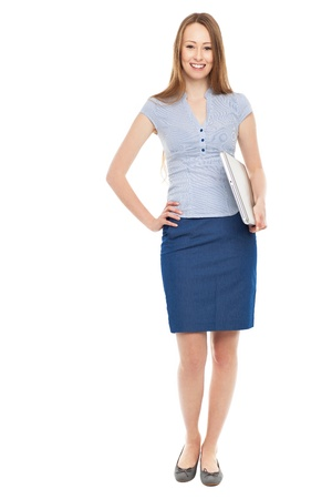 Young businesswoman smiling photo