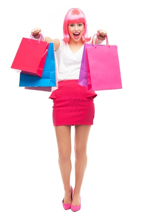 Attractive woman with shopping bags Stock Photo - 16881546