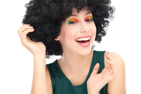 Beautiful woman with afro photo