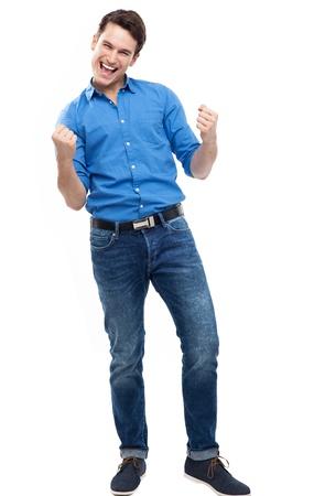 clenching: Man clenching fists