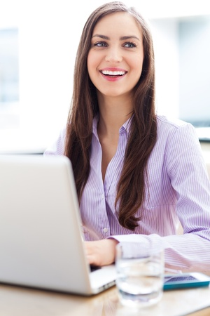 Businesswoman using laptop Stock Photo - 19399914