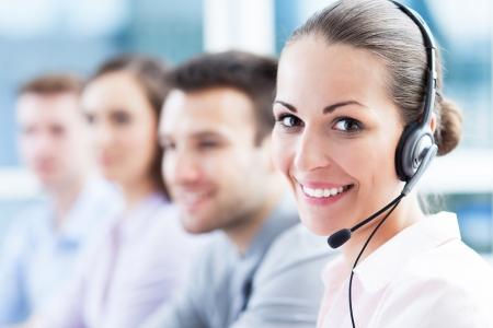 confident consultant: Call center team