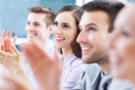 business news: Business team applauding