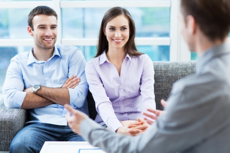 Couple meeting with consultant Stock Photo - 20492920