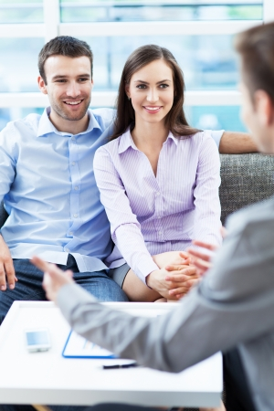 Couple meeting with consultant Stock Photo - 20492919