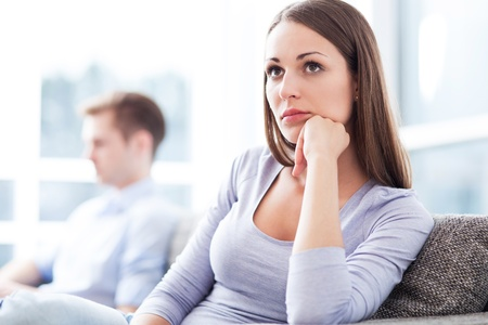 relationship problem: Couple having relationship problems Stock Photo