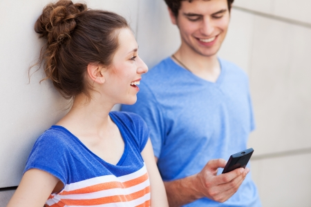 Young people with mobile phone Stock Photo - 20854156
